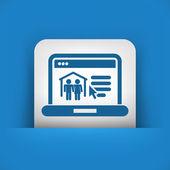 Real estate website icon — Stock Vector