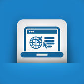 Travel agency website icon — Stock Vector