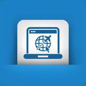 Icono de aire empresa web — Vector de stock