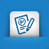 Excellent evaluation test icon — Stock Vector