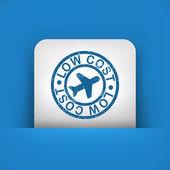 Lågprisflygbolag stiliserade grunge-ikonen — Stockvektor