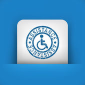Illustration of handicap assistance stamp icon — Stock Vector