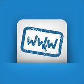 "Illustration of ""www"" grunge stamp — Stock Vector"
