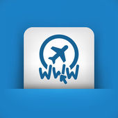 Website travel agency icon — 图库矢量图片