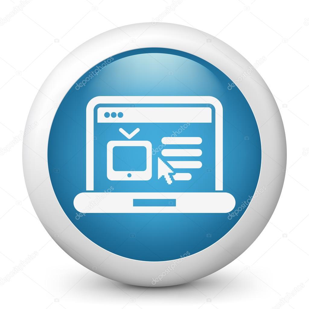 流媒体电视网站图标的插图 — 矢量图片作者 myvector
