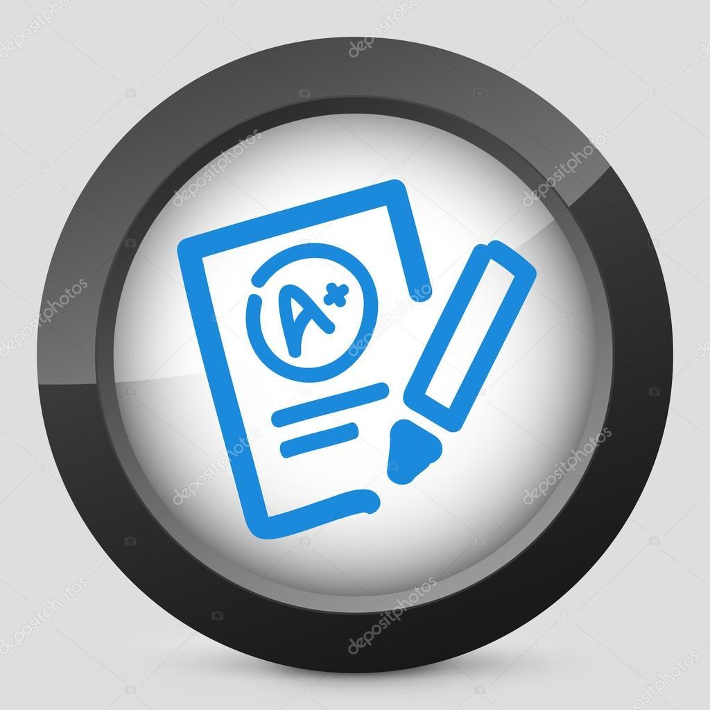 Отличные оценки теста значок ...: ru.depositphotos.com/25374881/stock-illustration-excellent...