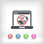 Web access data protection — Stock Vector