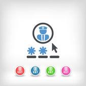 Password access concept — Stock Vector
