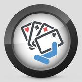 Poker game icon — Stock Vector