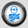 Stock Vector: Armed bandit concept icon