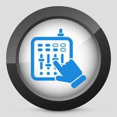 Concept of mixer audio icon — Stock Vector