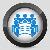 Concept-tekstpictogram lezen — Stockvector