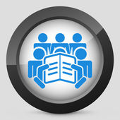 ícone do conceito de texto de leitura — Vetorial Stock