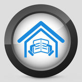 Illustration of library icon — Stock Vector