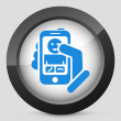 Stock Vector: Smartphon incoming call icon