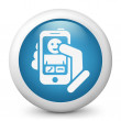 Smartphon incoming call icon — Stock Vector #25981173