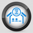 House alarm concept icon — Stockvectorbeeld
