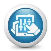 Touchscreen mixer concept icon — Stock Vector