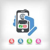 Ícone de chamada entrante smartphon — Vetor de Stock