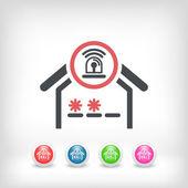 House alarm concept icon — Stock Vector