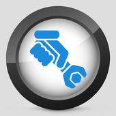 Worker concept symbol icon — Stock Vector