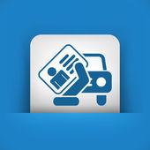 Car document icon — Stock Vector