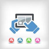 Touchscreen posuvné ikona — 图库矢量图片