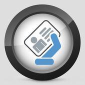 Identity card icon — Stock Vector
