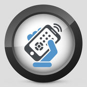 Smartphone remote control icon — Stock Vector
