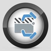 Clapboard concept icon — Stock Vector
