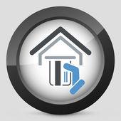 Pos concept icon — Stock Vector