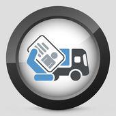 Truck document icon — Stock Vector