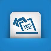 Ikona koncept hlasování — Stock vektor