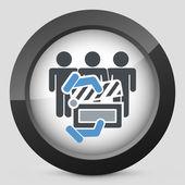 Clapboard actors icon — Stock Vector