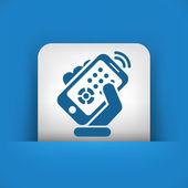Symbol für Smartphone-Fernbedienung — Stockvektor