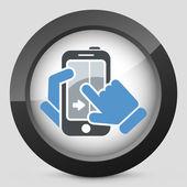 Touchscreen-Schiebe-Symbol — Stockvektor