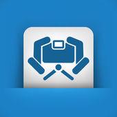 Aparat fotograficzny ikona koncepcja — Wektor stockowy