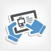 Train web booking — Stock Vector