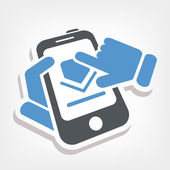 Smartphone Download-icon — Stockvektor