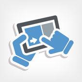 Slide touchscreen — Stock Vector