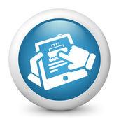 Navy web booking — Stock Vector