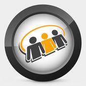 Social network icon 3d — Stock Vector