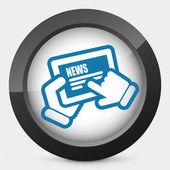Icono de noticias tablet — Vector de stock