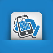 Phone keypad numbers — Stock Vector