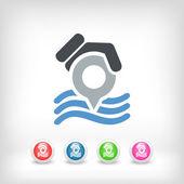Sea position pointer — Stock Vector