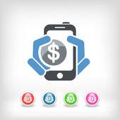 Phone cost icon — Stock Vector