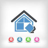 Symbolem firmy budowlane — Wektor stockowy