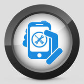 Smartphone setting icon — Vector de stock