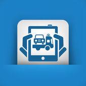 Samochód pomocy ikona — Wektor stockowy