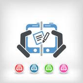 Comunicación web de bloc de notas — Vector de stock